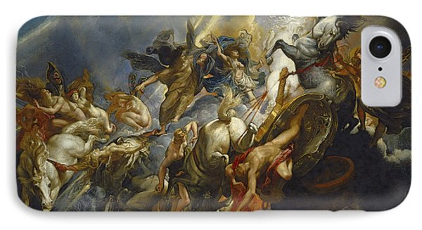 The Fall Of Phaeton IPhone Case by  Peter Paul Rubens