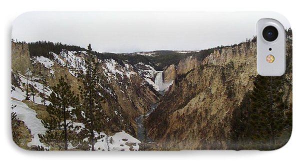 The Falls At Yellowstone Park IPhone Case by Kenneth Cole