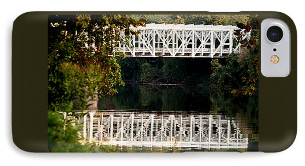 IPhone Case featuring the photograph The Falls Bridge by Christopher Woods