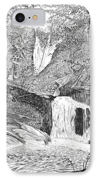 The Falls II IPhone Case by Carl Genovese