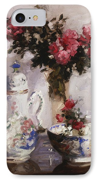 The Famille Rose Coffee Pot Phone Case by Francis Campbell Boileau Cadell