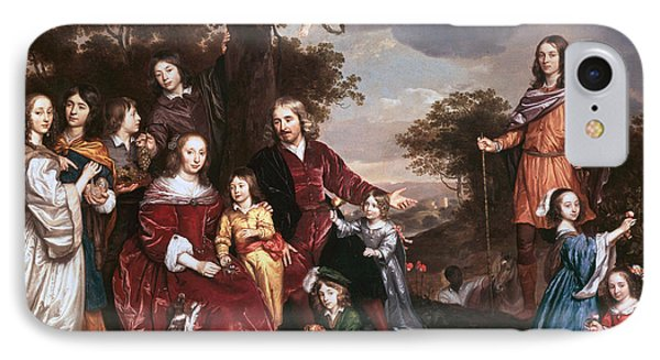 The Family Of Mr Willem Van Den Kerckhoven IPhone Case by Celestial Images