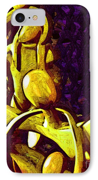 The Family Unit In Gold IPhone Case by Kirt Tisdale