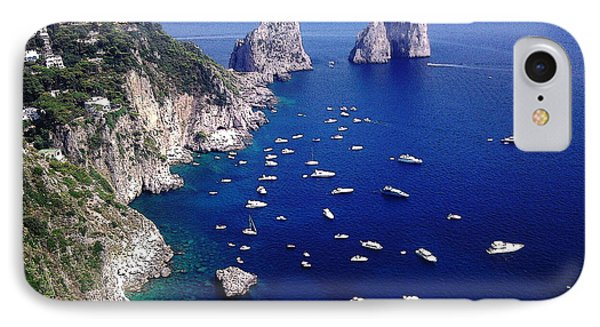 IPhone Case featuring the photograph The Faraglioni Of Capri by Ze  Di
