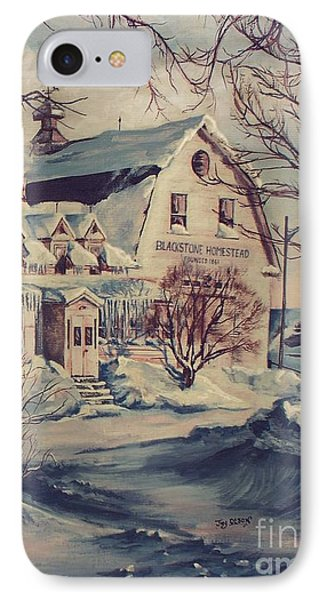 IPhone Case featuring the painting The Farm by Joy Nichols