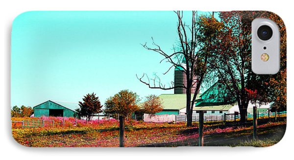The Farmland In Autumn Phone Case by Tina M Wenger