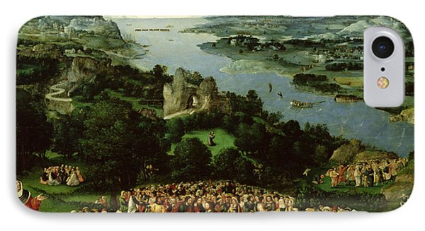 The Feeding Of The Five Thousand Oil On Panel IPhone Case by Joachim Patenier or Patinir