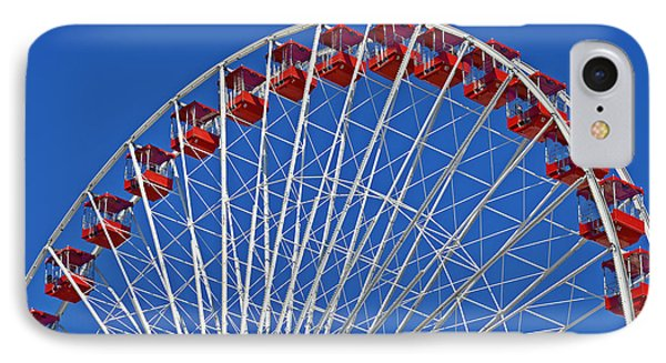 The Ferris Wheel Chicago Phone Case by Christine Till