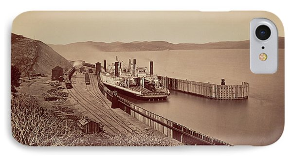 The Ferryboat Solano Carleton Watkins IPhone Case by Litz Collection