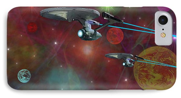 IPhone Case featuring the digital art The Final Frontier by Michael Rucker