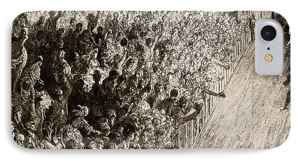 The Finishing Line Of The Derby IPhone Case by Gustave Dore