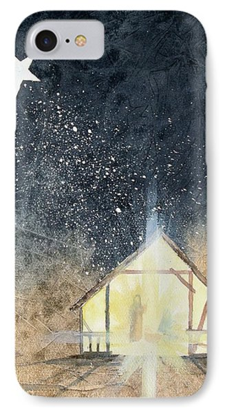 IPhone Case featuring the painting The First Christmas by Jackie Mueller-Jones