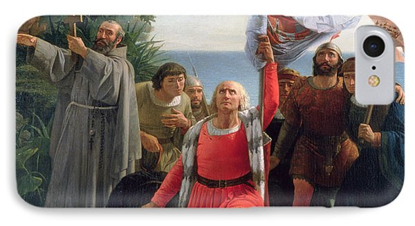 The First Landing Of Christopher Columbus In America IPhone Case by  Dioscoro Teofilo Puebla Tolin