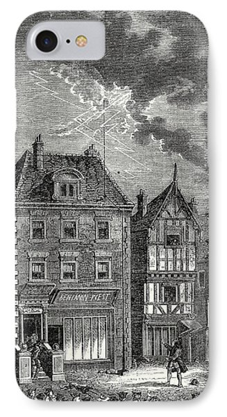 The First Lightning Rod Created By Franklin In Philadelphia IPhone Case by English School