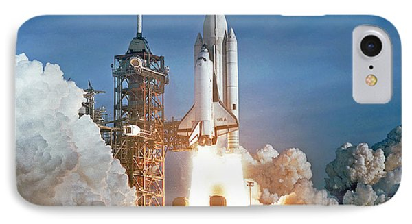 IPhone Case featuring the photograph The First Shuttle Launch by Rod Jones