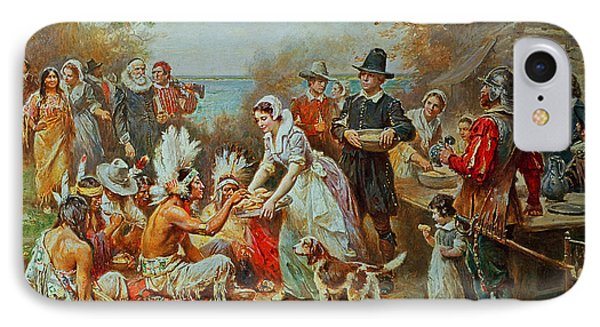 The First Thanksgiving IPhone Case by Jean Leon Gerome Ferris