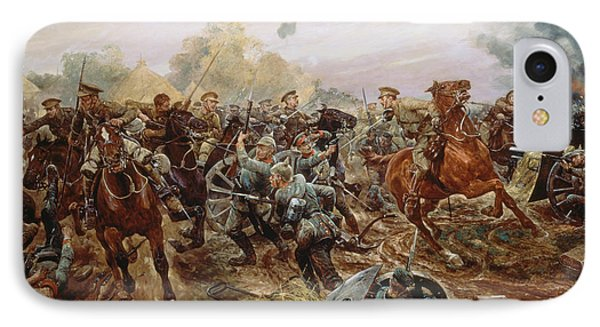 The First Vc Of The European War, 1914 IPhone Case by Richard Caton II Woodville