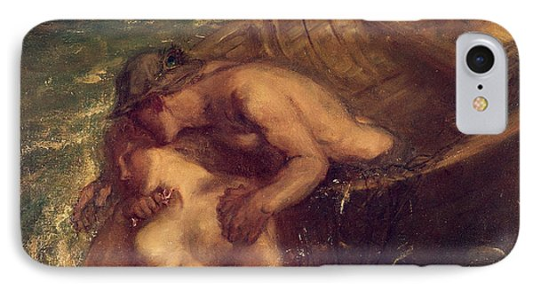 The Fisherman And The Mermaid, 1901-03 IPhone Case by Charles Haslewood Shannon