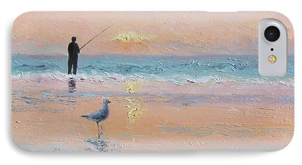The Fisherman And The Seagull IPhone Case by Jan Matson