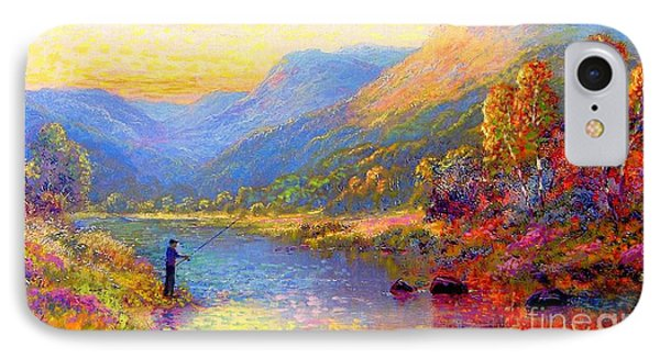 Fishing And Dreaming IPhone 7 Case by Jane Small