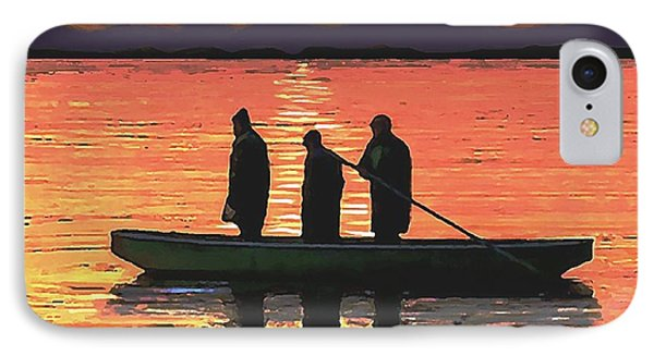 IPhone Case featuring the painting The Fishermen by Sophia Schmierer