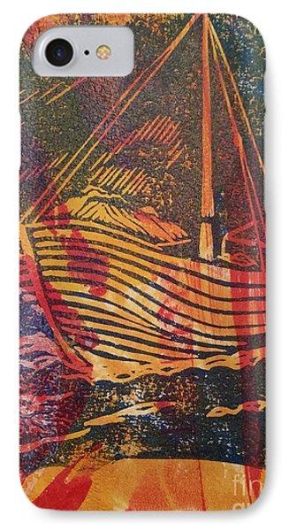 The Fishing Boat IPhone Case by Cynthia Lagoudakis