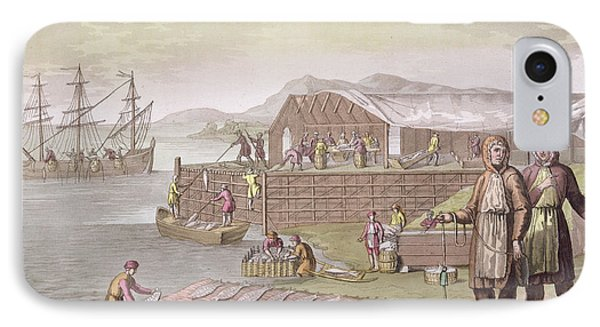 The Fishing Industry In Newfoundland IPhone Case by G Bramati