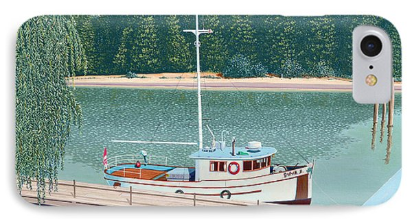 The Converted Fishing Trawler Gulvik IPhone Case by Gary Giacomelli