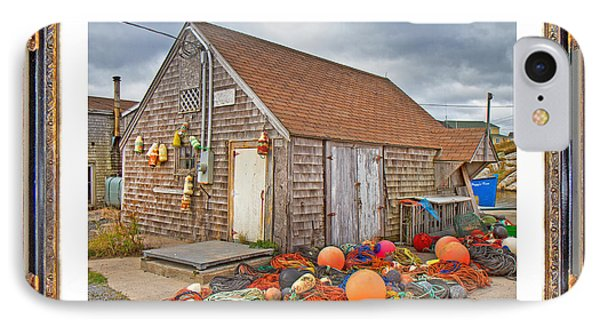 The Fishing Village Scene IPhone Case by Betsy Knapp