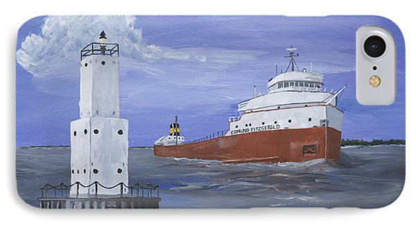 The Fitz Departs Escanaba IPhone Case by Jerry McElroy