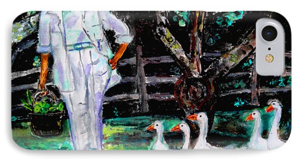 The Five Ducks IPhone Case by Helena Bebirian