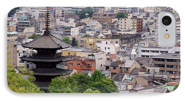 The Five-tiered Pagoda Of To-ji IPhone Case by Paul Dymond