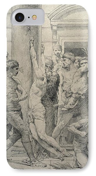 The Flagellation Of Christ Phone Case by William Adolphe Bouguereau