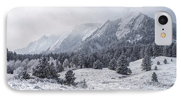 The Flatirons - Winter IPhone 7 Case by Aaron Spong