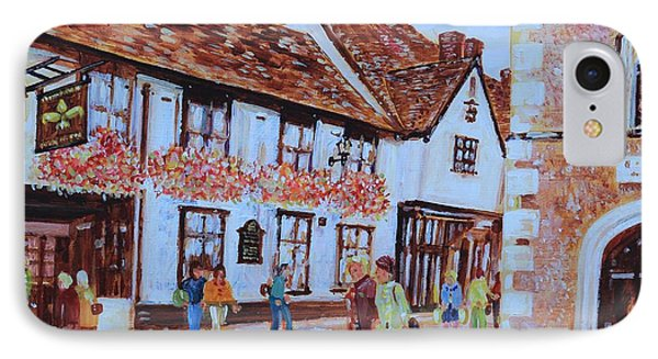 IPhone Case featuring the painting The Fleur De Lyse In St Albans by Giovanni Caputo
