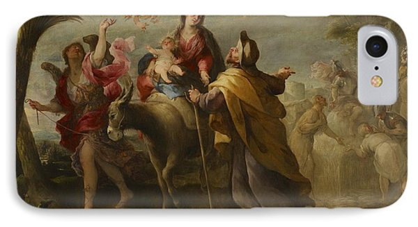 The Flight Into Egypt Phone Case by Jose Moreno
