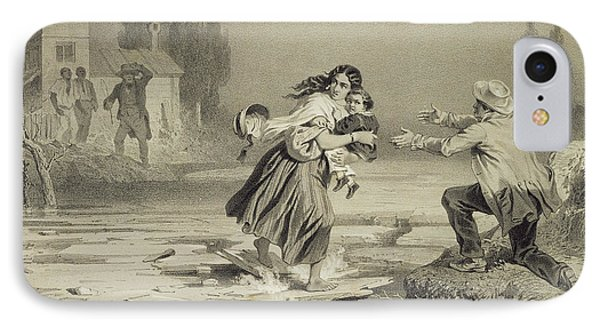 The Flight Of Eliza, Plate 3 From Uncle Phone Case by Adolphe Jean-Baptiste Bayot