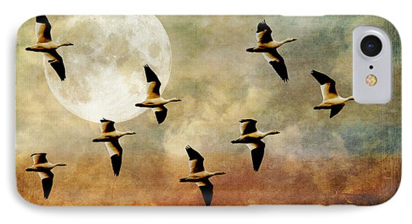 The Flight Of The Snow Geese Phone Case by Lois Bryan