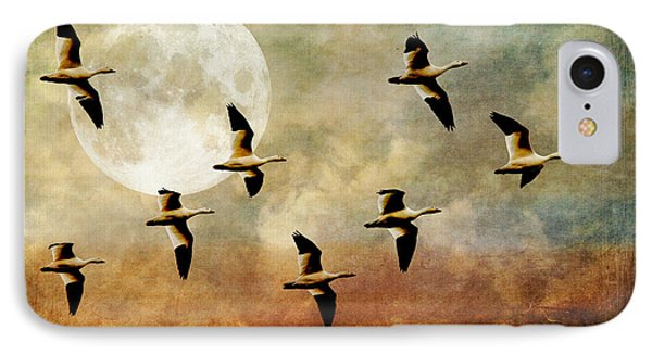 The Flight Of The Snow Geese IPhone Case by Lois Bryan