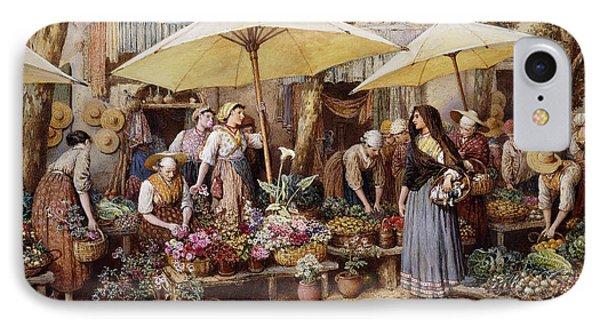 The Flower Market IPhone Case by Myles Birket Foster