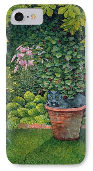 The Flower Pot Cat Phone Case by Ditz