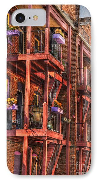 The Flower Pots On The Patio Phone Case by Paul Ward