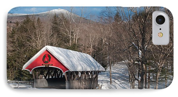 The Flume Bridge In Winter IPhone Case by Michael Blanchette