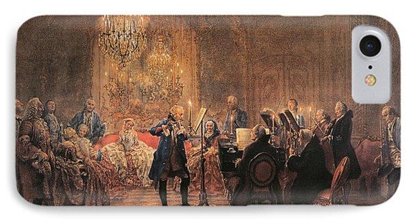 The Flute Concert IPhone Case by Adolph Friedrich Erdmann von Menzel