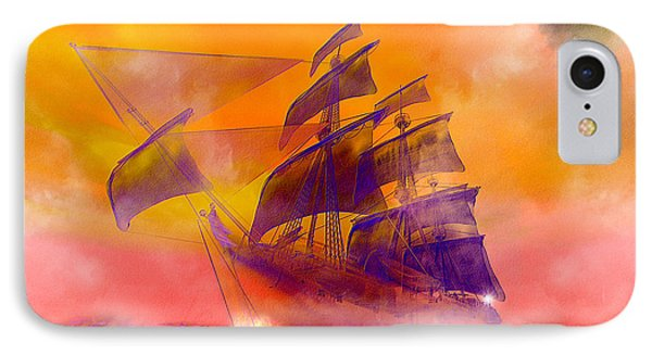 The Flying Dutchman Ghost Ship Phone Case by Carol and Mike Werner