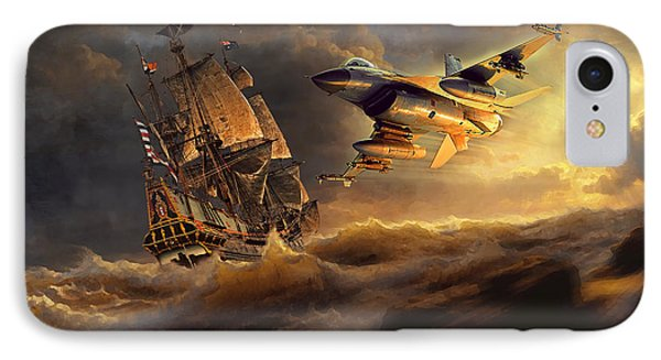 The Flying Dutchman Part One IPhone Case by Peter Van Stigt