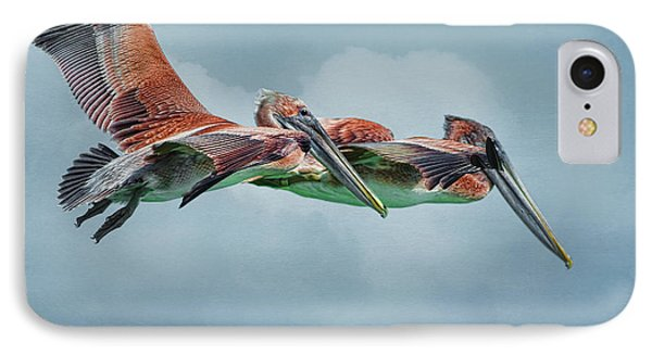 The Flying Pair IPhone Case by Deborah Benoit