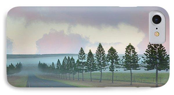 The Foggy Tree-lined Manele Road IPhone Case