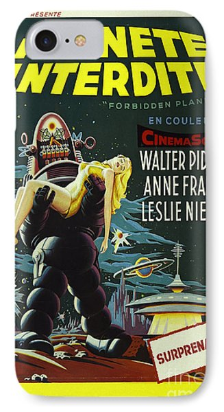 The Forbidden Planet Vintage Movie Poster Phone Case by Bob Christopher
