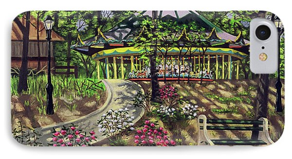 The Forest Park Carousel IPhone Case by Madeline  Lovallo
